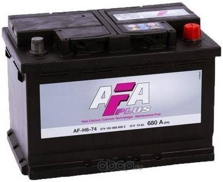 AFH674 AFA Аккумулятор AFA PLUS 74 А/ч 574 104 068 обратная R+ EN 680A 278x175x190 AF-H6-74 AF-H6-74