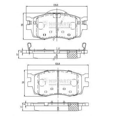 Колодки тормозные передние Nipparts J3600319 - фото 2