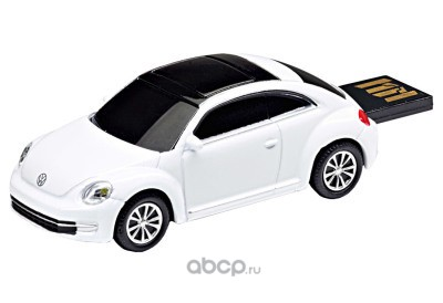 Флешка Volkswagen Beetle usb flash drive 4gb, white candy
