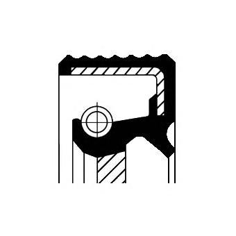 bmw (11 11 7 511 395) сальник коленвала передний