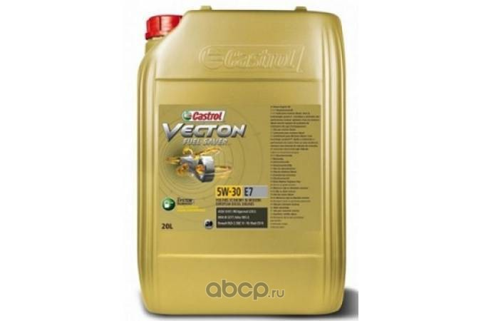 Castrol 157AEB Масло моторное Castrol Vecton Fuel Saver 5W-30 E7 синтетика 20л.