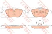 TRW GDB2051 Комплект тормозных колодок, дисковый тормоз