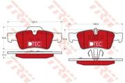 TRW GDB1643DTE Комплект тормозных колодок, дисковый тормоз