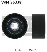 Skf VKM36038 Паразитный / ведущий ролик, поликлиновой ремень