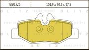 BB0325 BLITZ Колодки тормозные дисковые