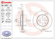 Brembo 09A35710 Тормозной диск