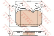 TRW GDB1943 Комплект тормозных колодок