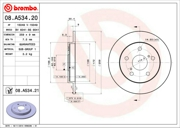 Brembo 08A53421 Тормозной диск