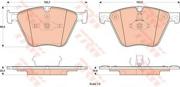 TRW GDB1915 Комплект тормозных колодок, дисковый тормоз
