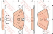 TRW GDB1882 Комплект тормозных колодок, дисковый тормоз