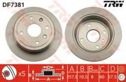 TRW DF7381 Тормозной диск