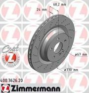 400362620 ZIMMERMANN Тормозной диск