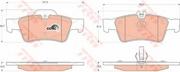 TRW GDB1546 Колодки тормозные задние