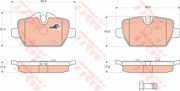 TRW GDB1612 Колодки тормозные задние