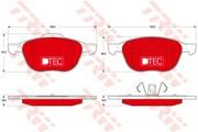 TRW GDB1583DTE Комплект тормозных колодок