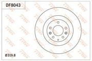 TRW DF8043 Тормозной диск