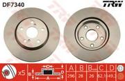 TRW DF7340 Тормозной диск