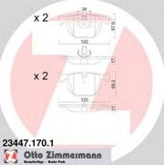 234471701 ZIMMERMANN Тормозные колодки