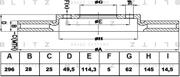BS0332 BLITZ Диск тормозной