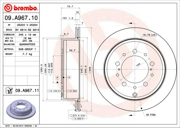 Brembo 09A96711 Диск тормозной BREMBO