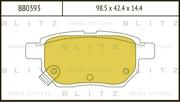 BB0393 BLITZ Колодки тормозные дисковые