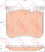 TRW GDB1826 Колодки тормозные дисковые, комплект